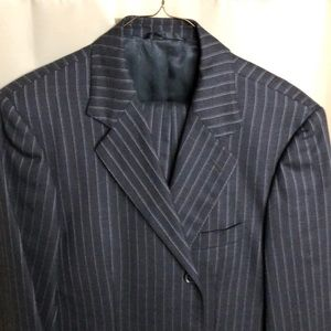 Burberry 3-button pinstriped suit